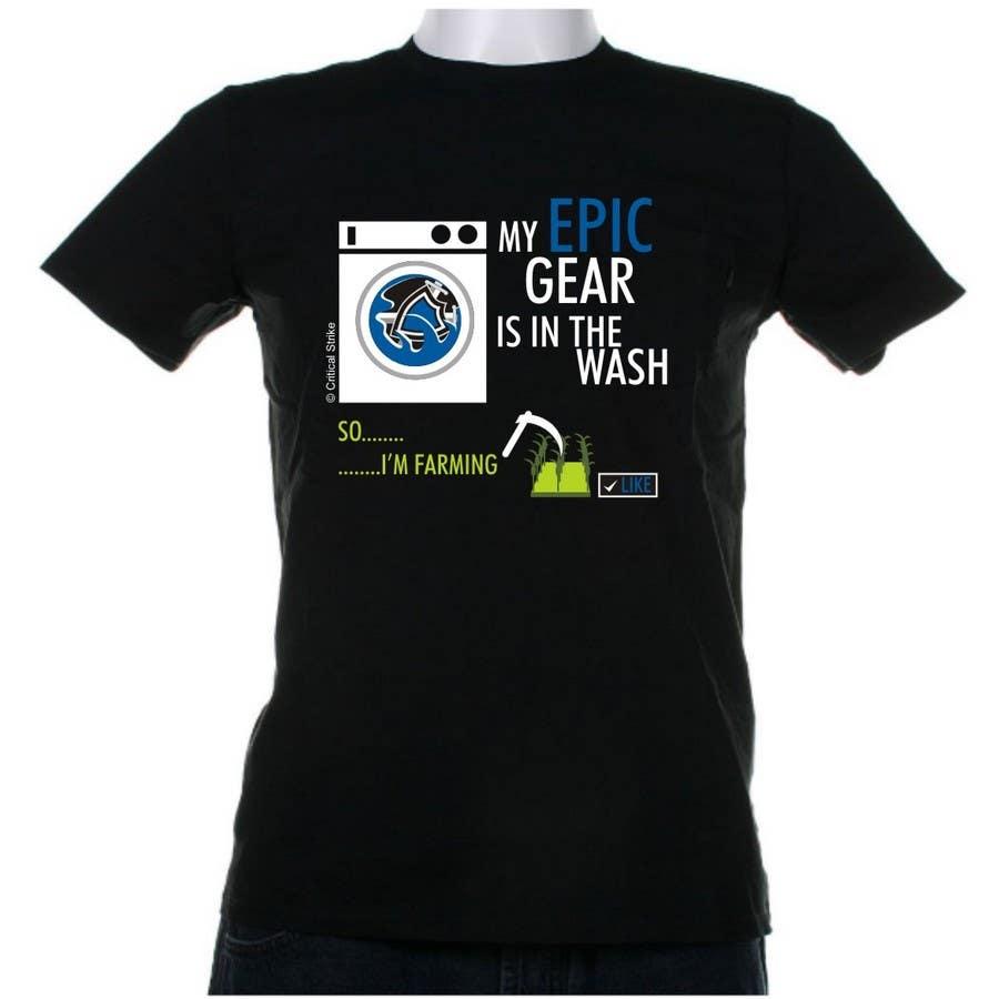 Penyertaan Peraduan #                                        40                                      untuk                                         Gaming theme t-shirt design wanted – Epic Gear