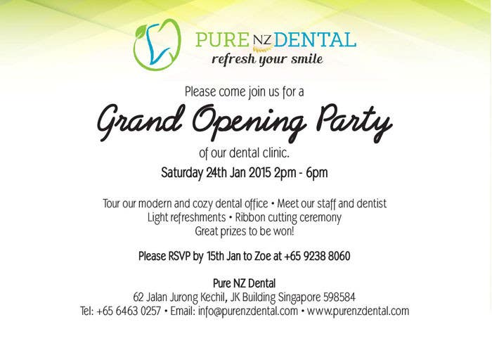 Entry 4 by grafiktopia for Design a grand opening Invitation Card – Grand Opening Party Invitations