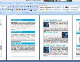 #8 untuk 4 A4 page design project oleh Graphicsdeal