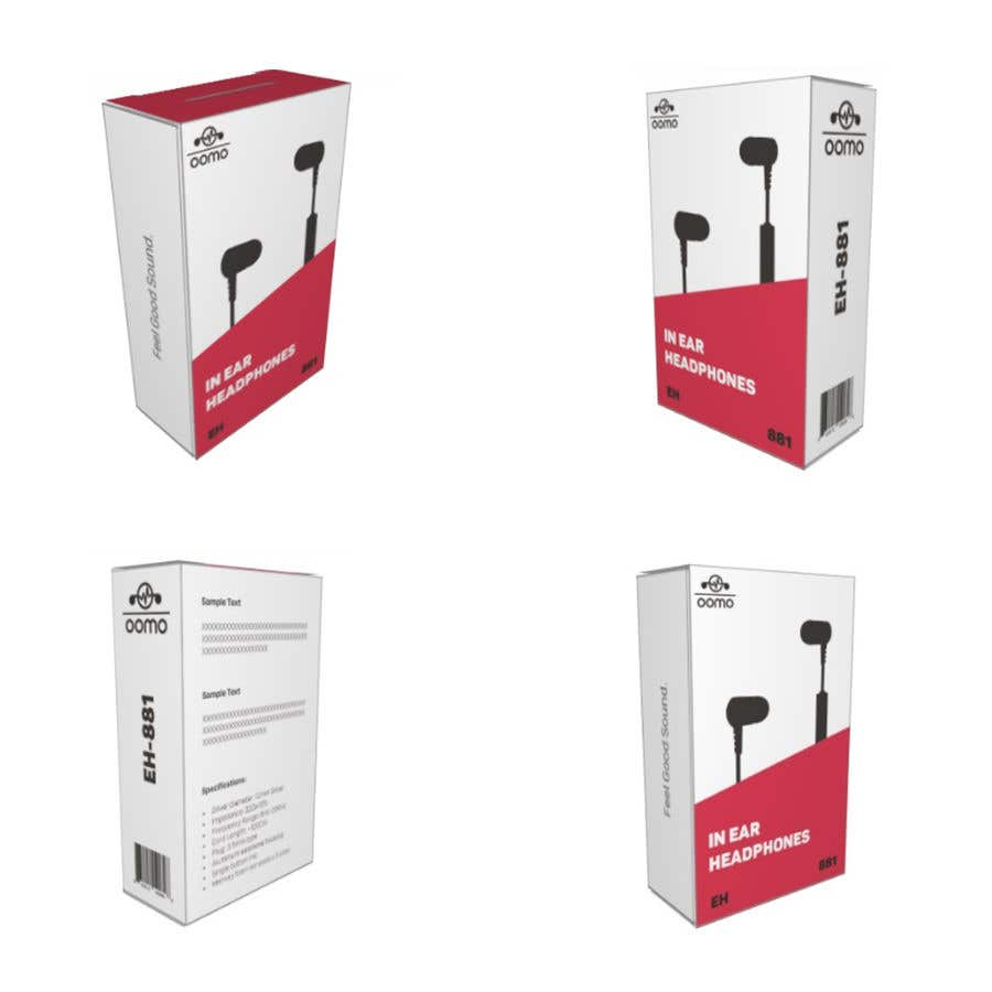 Konkurrenceindlæg #3 for Create Clean Design For In Ear Headphones Packaging (Think Apple/Bose)