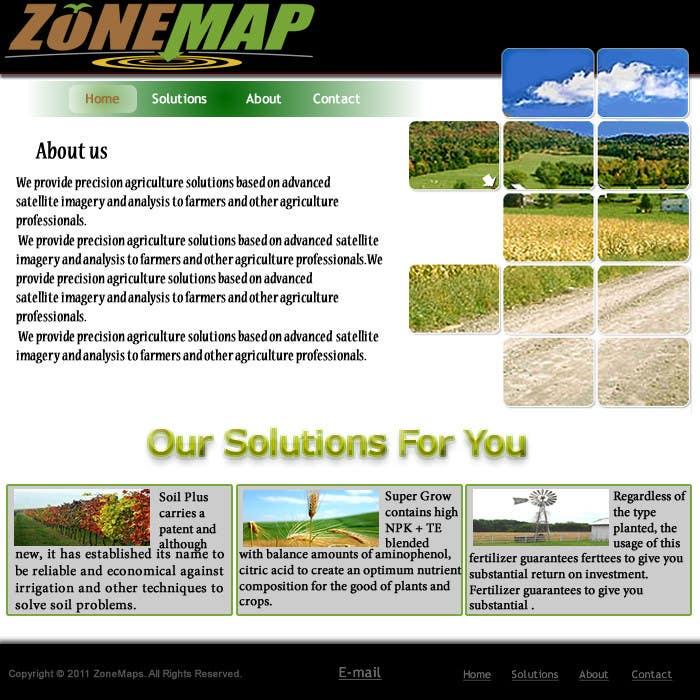 Bài tham dự cuộc thi #14 cho One page Brochure Site Design