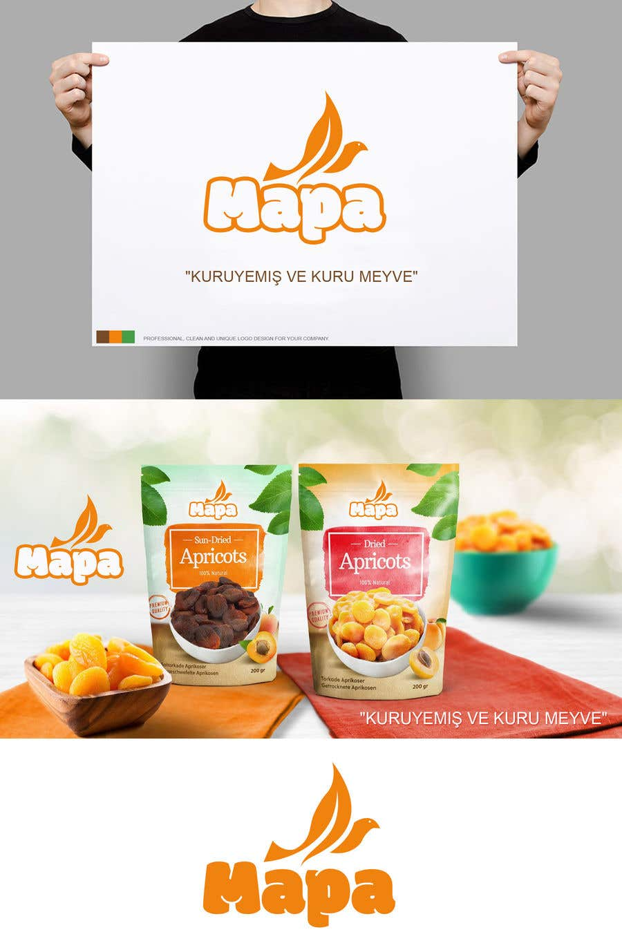 Inscrição nº 308 do Concurso para Design a Logo for Nuts and Dried Fruit Company