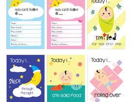 #56 untuk Design Milestonecards for Babies oleh hadeerafarouk