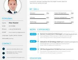 #22 untuk Improve Design (UX/UI) of CV ( Curriculum Vitae) in finance sektor oleh JubairAhamed1