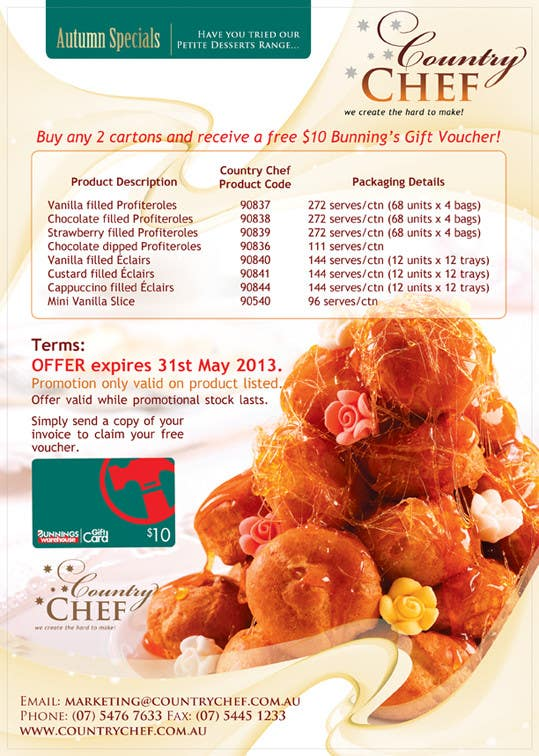 #2 for Graphic Design for Country Chef Desserts by BuDesign