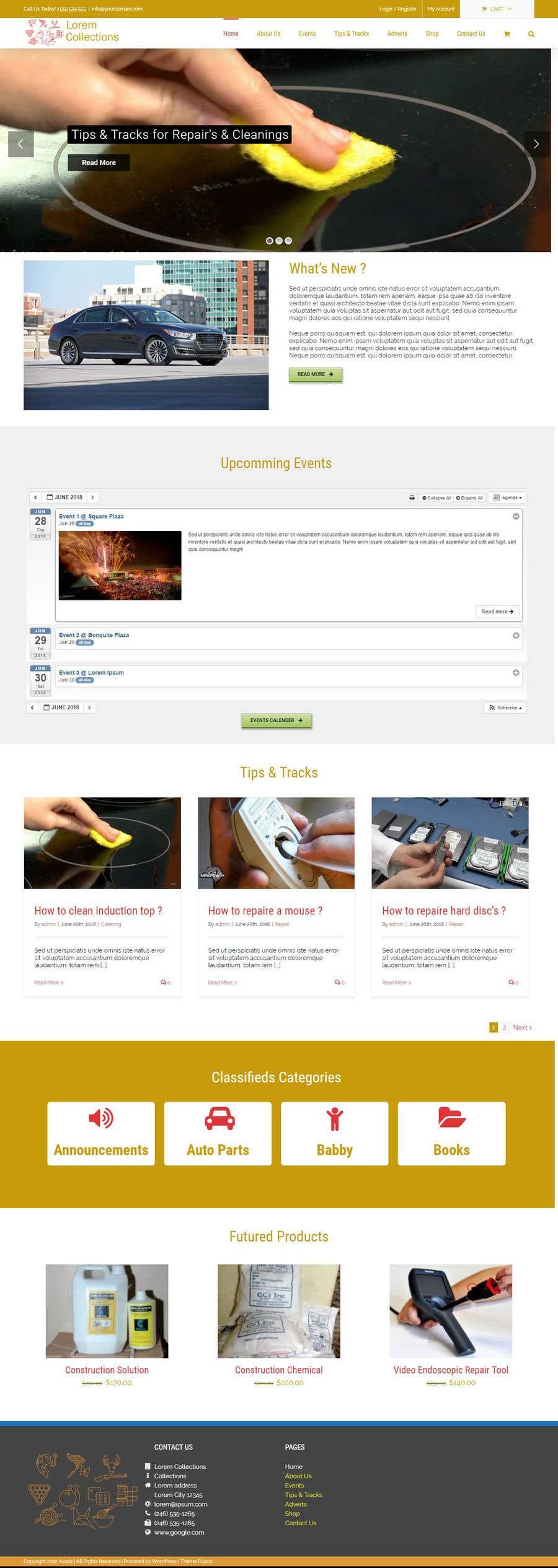 Penyertaan Peraduan #7 untuk Build a reusable hobby website