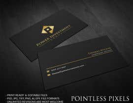 nº 66 pour Design some Business Cards for investor company par pointlesspixels