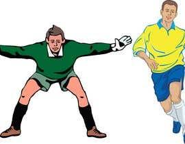 #5 for Soccer players ilustrations af pigulchik