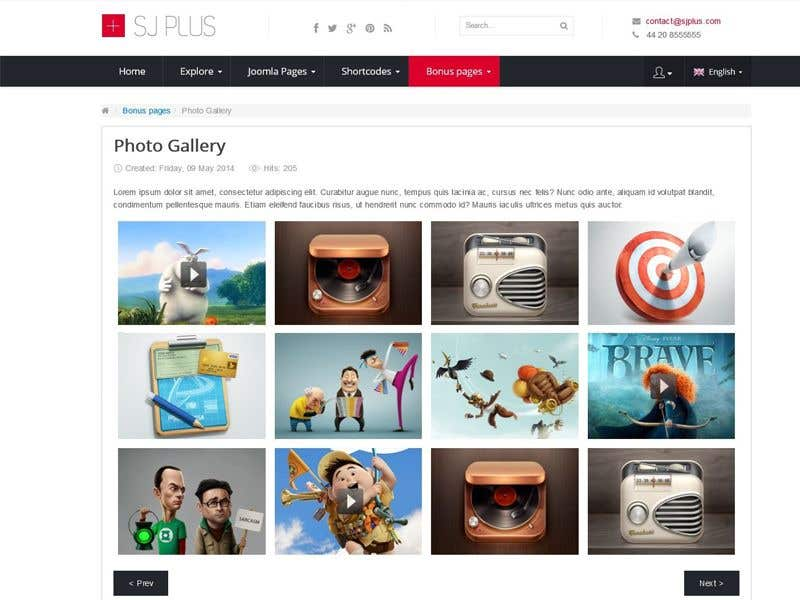 Contest Entry 1 For Create A Joomla Template Image Upload And Sharing It By