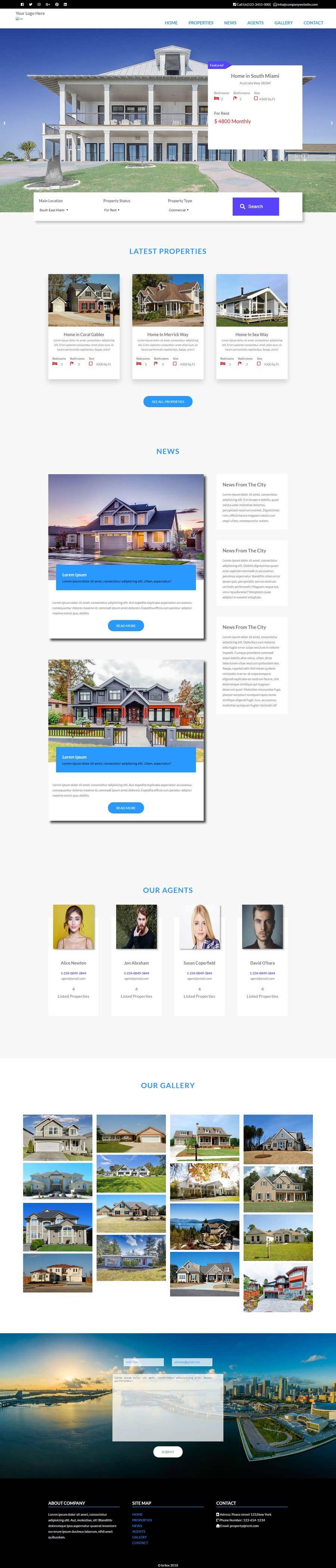 Penyertaan Peraduan #298 untuk I need a real estate website and a logo designed