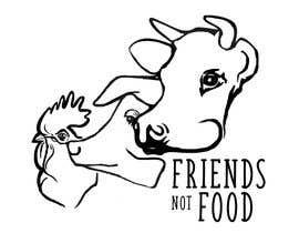 """Nro 19 kilpailuun Vegan tattoo - """"Friends Not Food"""" käyttäjältä Miszczui"""