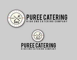 nº 9 pour high end food catering company, called ( Puree ) . -something simple elegant and modern .  - one color only to use ( black, or dark blue, or maroon ).    -your creative ideas are needed i want to see diferent options. par MezbaulHoque