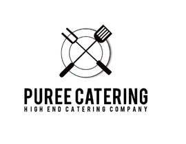 nº 12 pour high end food catering company, called ( Puree ) . -something simple elegant and modern .  - one color only to use ( black, or dark blue, or maroon ).    -your creative ideas are needed i want to see diferent options. par MezbaulHoque