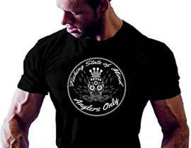 #15 para Design a skull/calavera fishing t-shirt por elliondesignidea