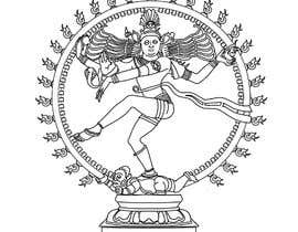 #15 para Draw a vector image of Nataraja (Dancing Shiva) in black and white por berragzakariae