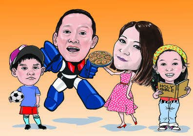Gambar                             Need a family caricature from ph...