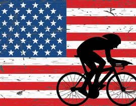 #1 para Graphic Design USA Flag with a Road Cyclist por showaib7