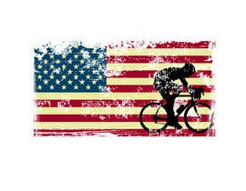 #3 para Graphic Design USA Flag with a Road Cyclist por almaktoom