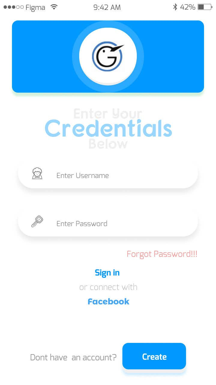 Entry #38 by nomanfarooq1432 for Android/iOS APP UI/UX FOR LOGIN