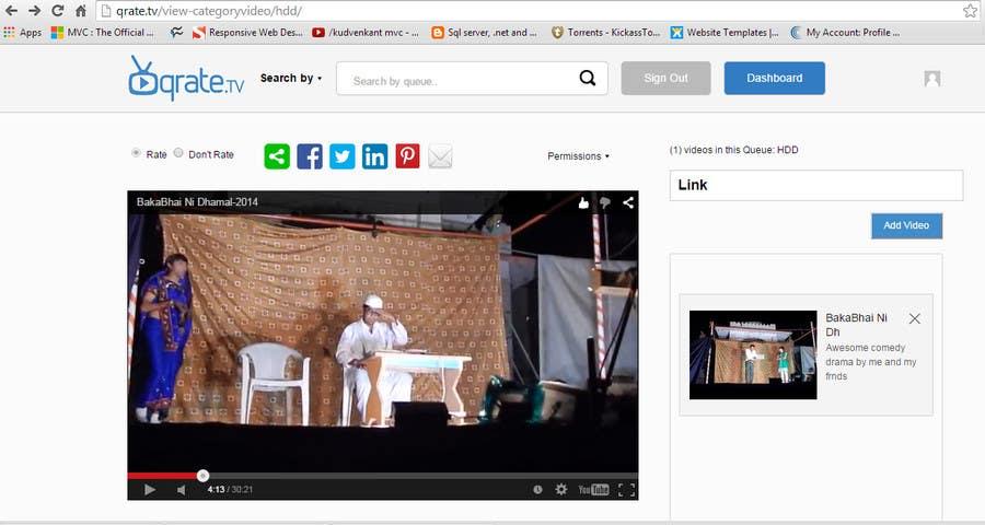 Penyertaan Peraduan #                                        1                                      untuk                                         build the most popular video queue