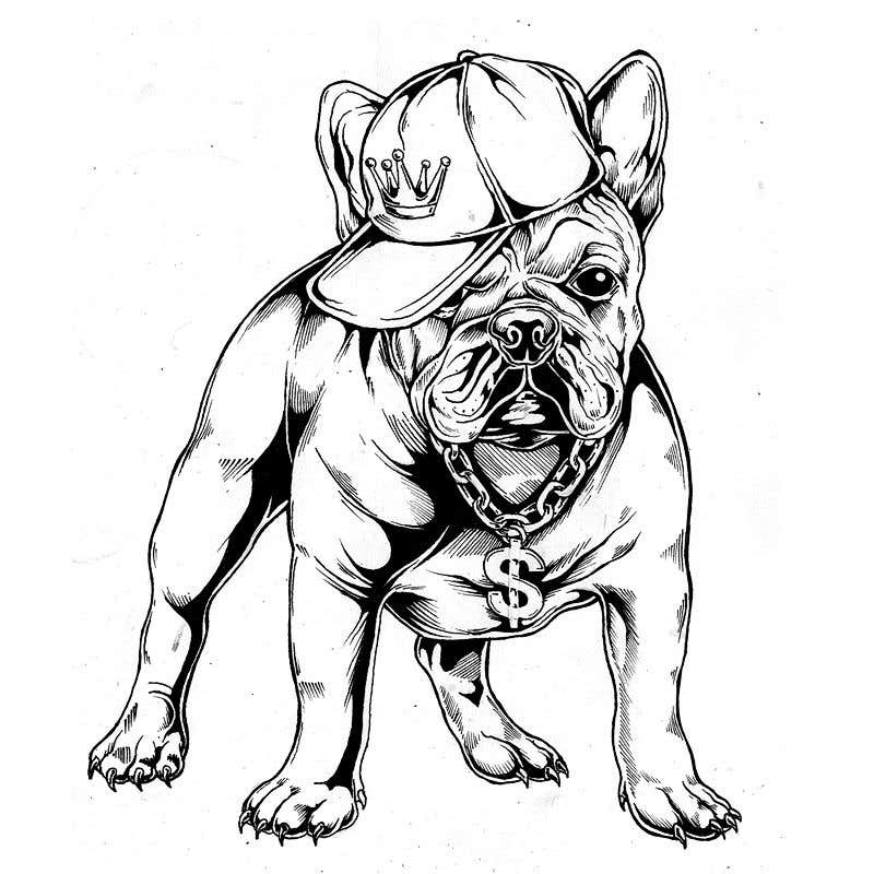Proposition n°50 du concours Illustrate a french Bulldog - Hand Drawn