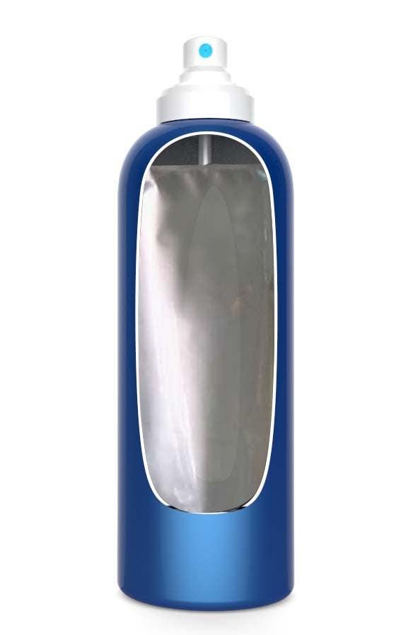 Inscrição nº                                         7                                      do Concurso para                                         Illustration to illustrate a new aerosol spray technology