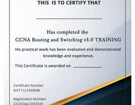 #49 for Training Certificate Design af DhanvirArt