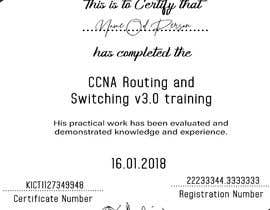 #54 for Training Certificate Design af TechHelpSupport