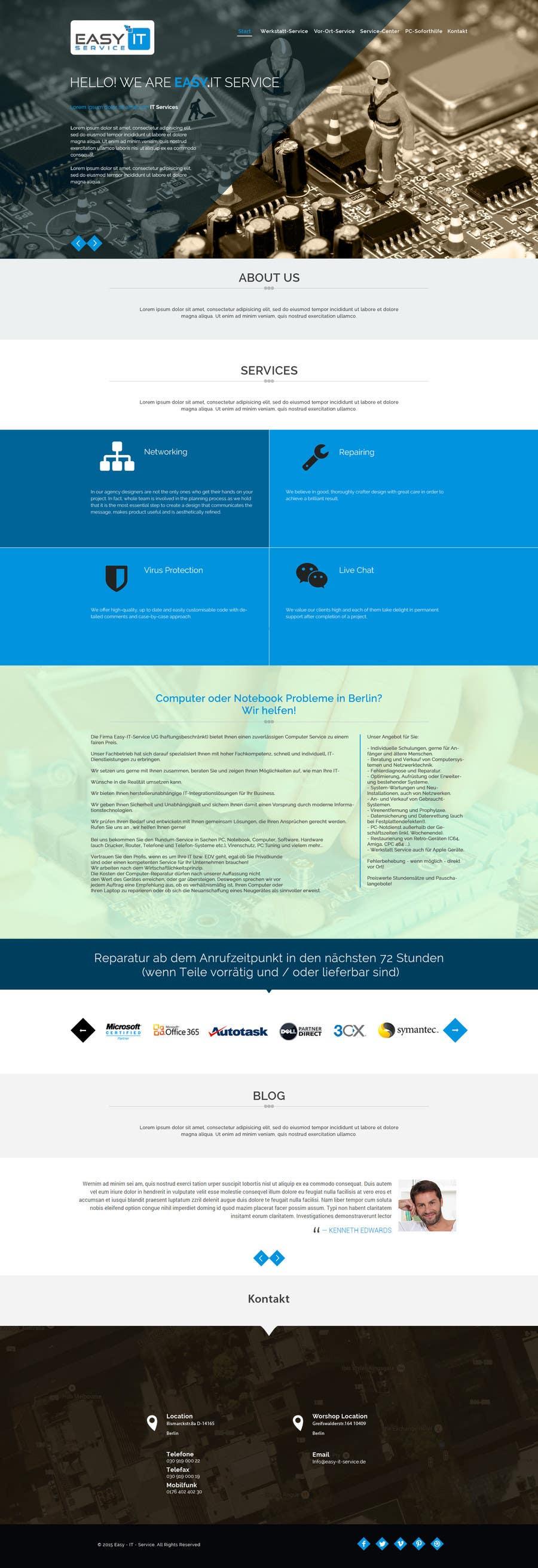 Bài tham dự cuộc thi #                                        13                                      cho                                         Redesign Computer Repair Webseite