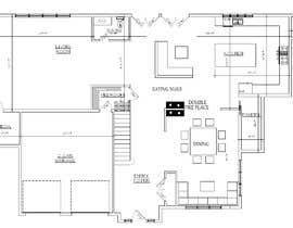 #16 para design 1st floor floor plan por TMKennedy