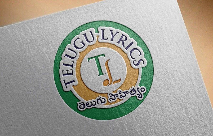 """Inscrição nº                                         26                                      do Concurso para                                         Design a Logo for Telugu Music Portal with Primary focus on """"Telugu Lyrics"""""""