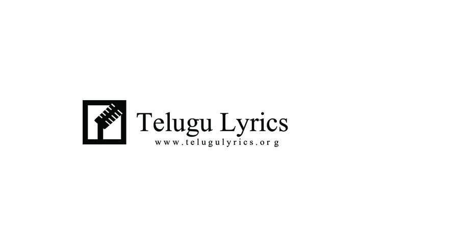 """Inscrição nº                                         2                                      do Concurso para                                         Design a Logo for Telugu Music Portal with Primary focus on """"Telugu Lyrics"""""""