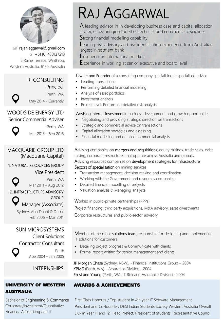 Entry #28 by khaiminhp for Redesign my CV   Freelancer
