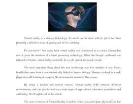 #8 para I need a blog about Virtual Reality por rafianaveed0