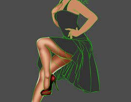 #14 , Illustrate Vintage style (classy) pinup girl with a Checkered Racing Flag 来自 kidznon