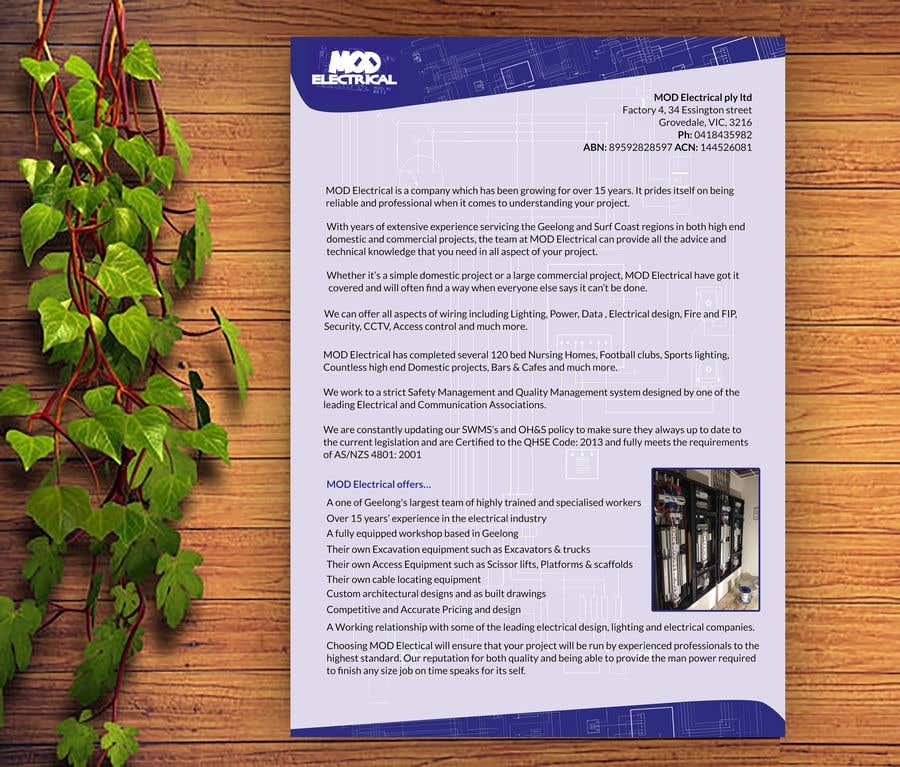Entry #2 by designertarikul for Design a 1 page cover letter ...