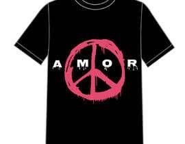#2 for Necesito un montaje con un simbolo de la paz del estilo q envio y con unas letras como en la foto. Es para estampacion de camisetas. Me gustaria moverme en esa gama de colores by DrRappy