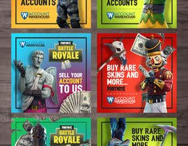 #16 dla Design multiple advertisements for Fortnite Instagram account. przez Artkisel