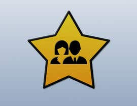 nº 9 pour Create simple logo of man & woman inside star par Legatus58