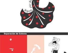 """Nro 2 kilpailuun serigrafia en camisetas.imagen de la bailarina para retocar, quiero añadirle una flor al pelo y la frase """"dejala que baile..."""" rodeando su cuerpo como muestro en el boceto. käyttäjältä Mezacar"""