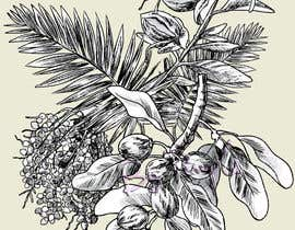 #20 untuk £100 for a Black and White hand or computer drawn tropical image of leaves, fruits and trees (see attached). oleh wpurple