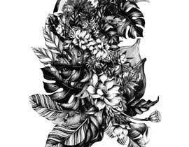 #48 untuk £100 for a Black and White hand or computer drawn tropical image of leaves, fruits and trees (see attached). oleh iomikelsone