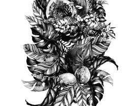 #53 untuk £100 for a Black and White hand or computer drawn tropical image of leaves, fruits and trees (see attached). oleh iomikelsone