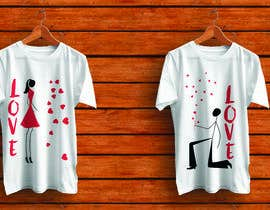 #39 for Trendy & Catchy Tshirt Screen Printing Design For Couple by robiulhossi