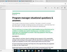 #2 , Program manager situational questions answer 来自 kumkumrajput
