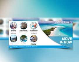 nº 123 pour Design beach residence teaser banner par Designstore01