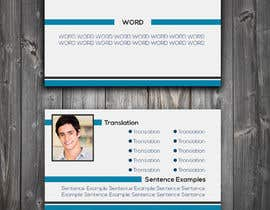 #18 for Design a Flash-card (Two-sided Study Card) by armanarts