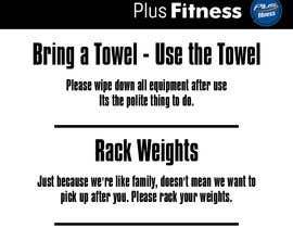 Nro 10 kilpailuun easy gym etiquette sign käyttäjältä DiegoBuzanello