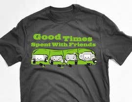 nº 10 pour Gaming theme t-shirt design wanted – Good Times Spent with Friends par WintryGrey