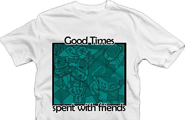 Contest Entry #                                        51                                      for                                         Gaming theme t-shirt design wanted – Good Times Spent with Friends